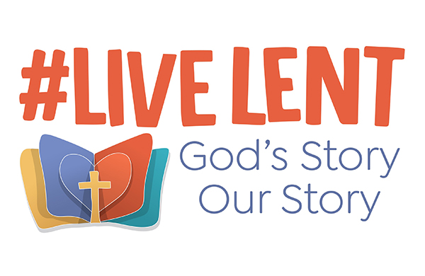 Live Lent logo with text, 'God's Story, Our Story'
